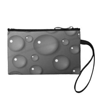 Grey Raindrop Background Coin Wallet