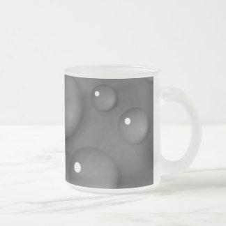 Grey Raindrop Background Frosted Glass Coffee Mug