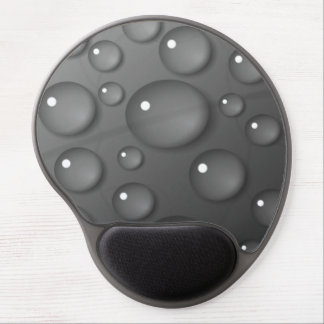 Grey Raindrop Background Gel Mouse Pads