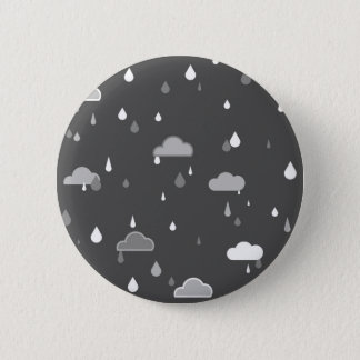 Grey Rains Pinback Button