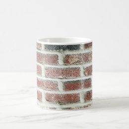 Grey Red Bricks Wall Background Brick Texture Coffee Mug