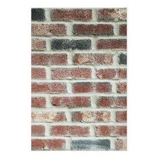 Grey Red Bricks Wall Background Brick Texture Poster