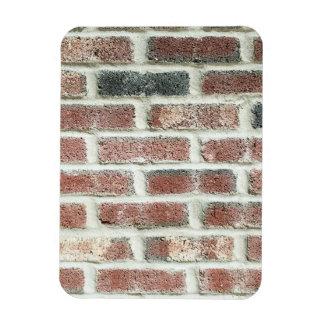 Grey Red Bricks Wall Background Brick Texture Rectangular Photo Magnet