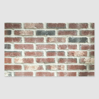 Grey Red Bricks Wall Background Brick Texture Rectangular Sticker