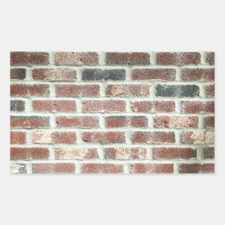 Grey Red Bricks Wall Background Brick Texture Rectangular Sticker