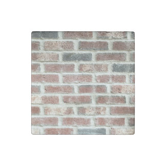 Grey Red Bricks Wall Background Brick Texture Stone Magnet