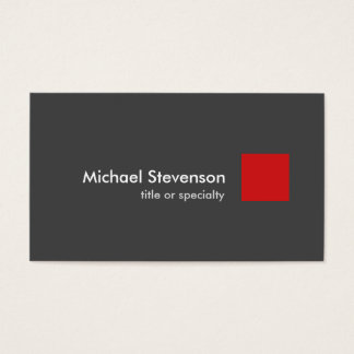Grey Red Modern Unique Stylish Business Card