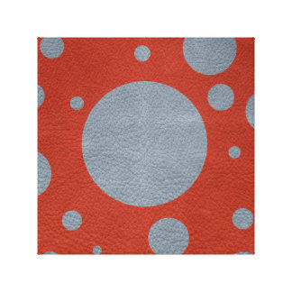 Grey & Red Scattered Spots in Leather print
