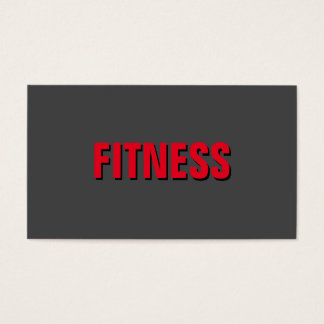 Grey Red Unique Exclusive Personal Trainer Business Card