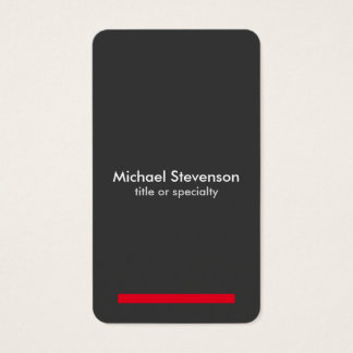 Grey Red Vertical Professional Round Business Card