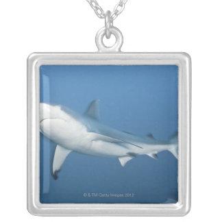 Grey reef shark (Carcharhinus amblyrhynchos) Square Pendant Necklace