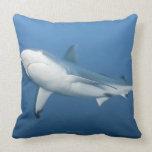 Grey reef shark (Carcharhinus amblyrhynchos) Throw Pillows