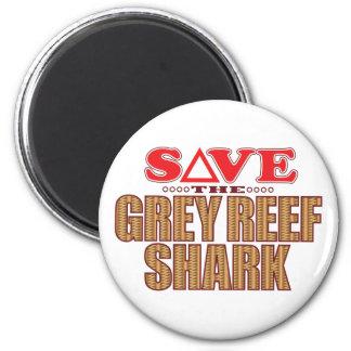 Grey Reef Shark Save 2 Inch Round Magnet