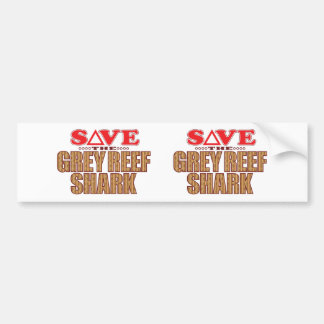 Grey Reef Shark Save Bumper Sticker