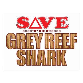 Grey Reef Shark Save Postcard