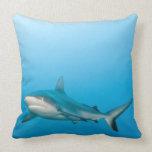 Grey reef sharks (Carcharhinus amblyrhnchos) Throw Pillow