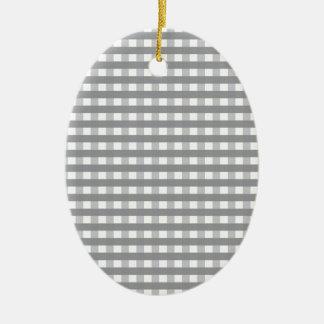 Grey Retro Style Pattern - Weddings Ceramic Ornament
