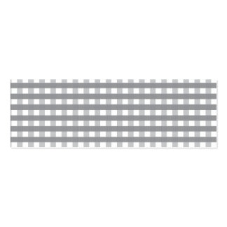 Grey Retro Style Pattern - Weddings Double-Sided Mini Business Cards (Pack Of 20)