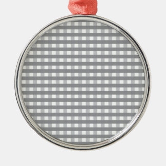 Grey Retro Style Pattern - Weddings Metal Ornament