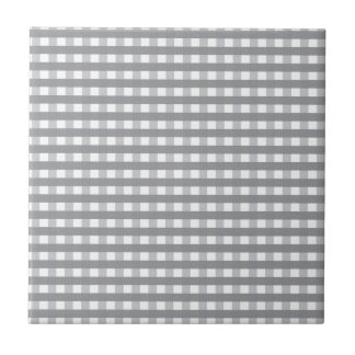 Grey Retro Style Pattern - Weddings Small Square Tile