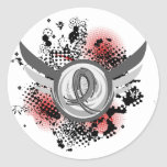 Grey Ribbon And Wings Brain Cancer Sticker