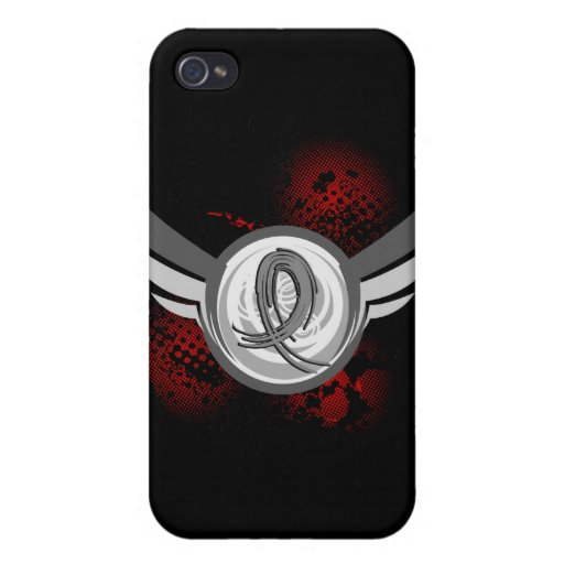 Grey Ribbon And Wings Juvenile Diabetes Case For iPhone 4