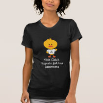 Grey Ribbon Asthma Awareness Chick T-shirt