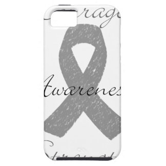 Grey ribbon brain cancer awareness iPhone 5 cover