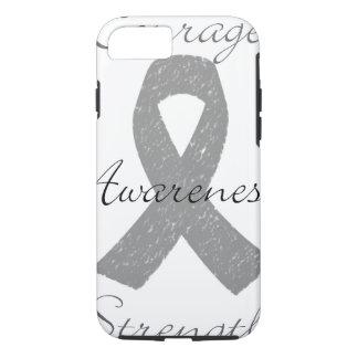 Grey ribbon brain cancer awareness iPhone 7 case