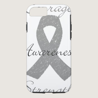 Grey ribbon brain cancer awareness iPhone 8/7 case