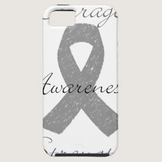 Grey ribbon brain cancer awareness iPhone SE/5/5s case