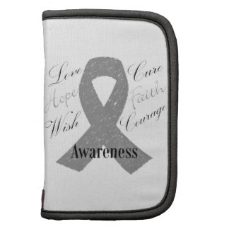 Grey ribbon brain cancer awareness planners