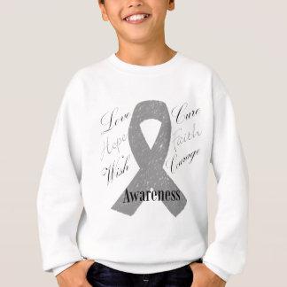 Grey ribbon brain cancer awareness sweatshirt