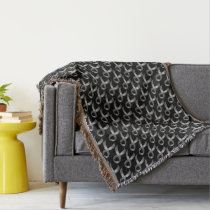 Grey Ribbon Brain Tumor Cancer & Diabetes Throw Blanket