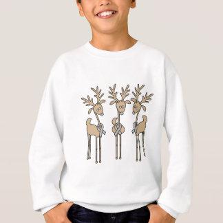 Grey Ribbon Reindeer - Brain Cancer/Brain Tumor Sweatshirt