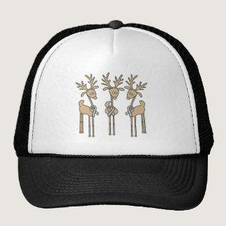 Grey Ribbon Reindeer - Brain Cancer/Brain Tumor Trucker Hat