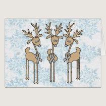 Grey Ribbon Reindeer (Diabetes) Card