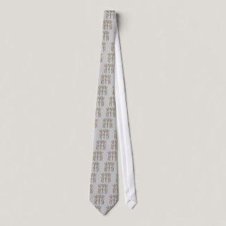 Grey Ribbon Reindeer (Diabetes) Neck Tie