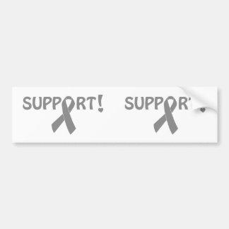 Grey Ribbon Support! Bumper Sticker
