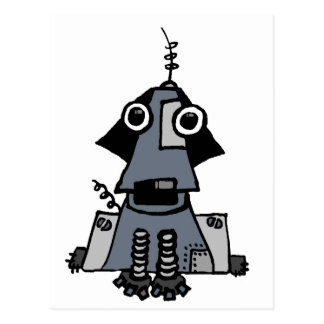 Grey Robot Dog Postcard