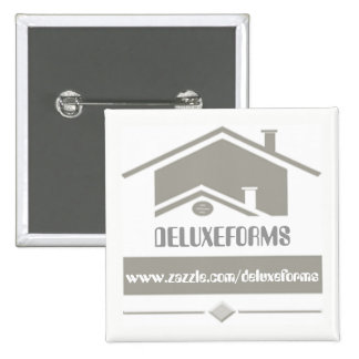 Grey Roof Pinback Button