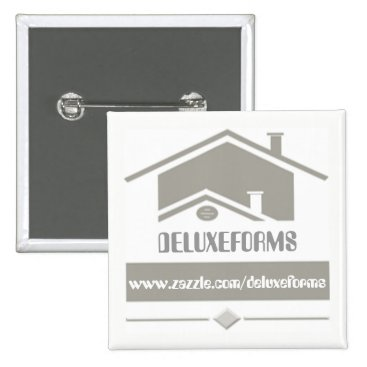 Professional Business Grey Roof Pinback Button