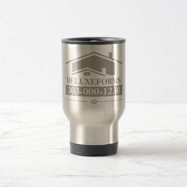 Professional Business Grey Roof Travel Mug