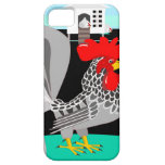 Grey rooster & hens iPhone 5/5S covers