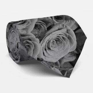 Grey Roses Neck Tie
