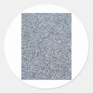 Grey sand or concrete texture background classic round sticker