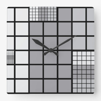 Grey scale abstract wallclock