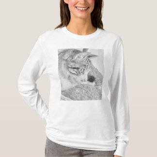 Grey Scale Cat T-Shirt