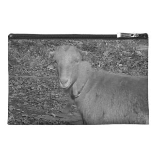 Grey Scale Goat Travel Accessory Bag