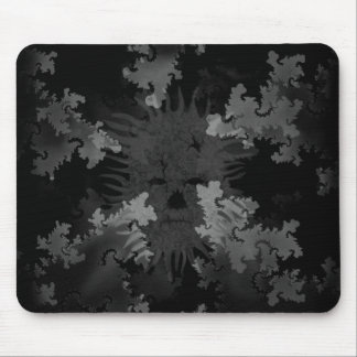 Grey Scale Spirit in Fractals Mouse Pad